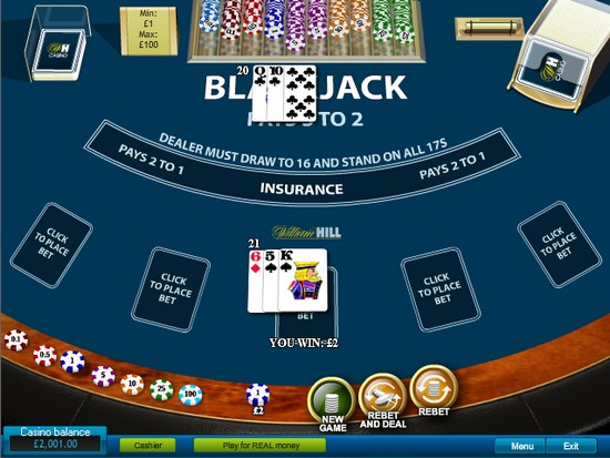 play black jack on line